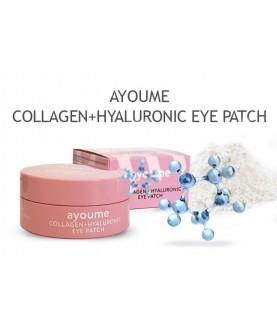 AYOUME Патчи для глаз разглаживающие с коллагеном и гиалуроновой кислотой COLLAGEN+HYALURONIC 39,5