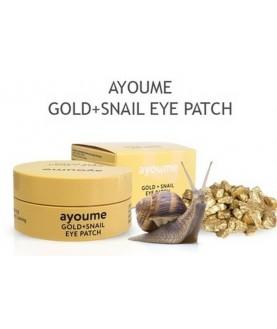 AYOUME Патчи для глаз омолаживающие с золотом и улиточным муцином GOLD+SNAIL 39,5