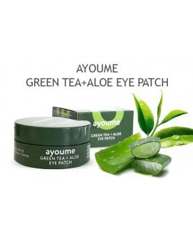 AYOUME Патчи для глаз от отечности с экстрактом зеленого чая и алоэ GREEN TEA+ALOE 39,5