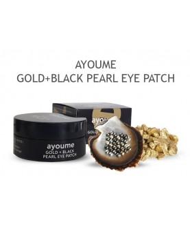 AYOUME Патчи для глаз от темных кругов с золотом и черным жемчугом GOLD+BLACK PEARL 39,5