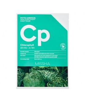 MISSHA Маска для лица  Phytochemical Skin Supplement Sheet Mask Chlorophyll/AC Care 7,5