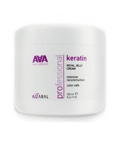 KAARAL Питательная маска на основе натурального кератина Keratin Royal Jelly cream 500 мл 21,5