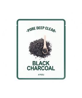 A'PIEU Очищающая маска для лица Pore Deep Clear Black Charcoal 25г 4,0
