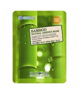 FOODAHOLIC Тканевая маска Bamboo Natural Essence Mask, 23 г  2,5