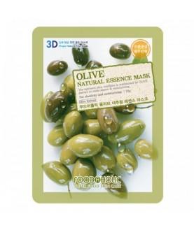 FOODAHOLIC Тканевая маска Olive Natural Essence Mask  23 г  2,5
