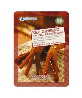 FOODAHOLIC Тканевая маска  Red Ginseng Natural Essence Mask 23 г  2,5