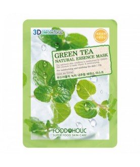 FOODAHOLIC Тканевая маска Green Tea Natural Essence Mask 23 г  2,5