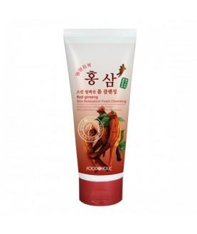 FOODAHOLIC Пенка для умывания Red Ginseng Skin Relaxation Foam Cleаnsing 180мл 17,5