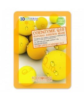 FOODAHOLIC Тканевая маска FoodaHolic Coenzyme Q10 Natural Essence Mask 23г 2,5
