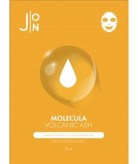 J:ON Тканевая маска для лица ВУЛКАНИЧЕСКИЙ ПЕПЕЛ MOLECULA VOLCANIC DAILY ESSENCE MASK 2,2