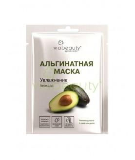 VIABEAUTY Увлажняющая альгинатная маска для лица с маслом авокадо 25г  3,6