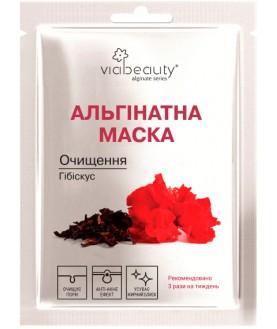 VIABEAUTY Очищающая альгинатная маска для лица с экстрактом гибискуса  25г 3,6