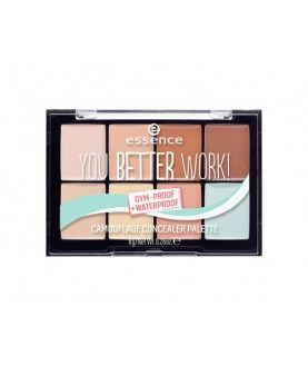 ESSENCE Консилер 8 в 1 you better work! camouflage concealer palette, 8 г 11,2
