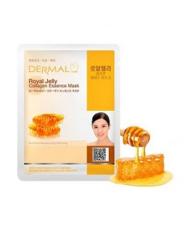 DERMAL Маска для лица Пчелиное маточное молочко и коллаген/Royal Jelly Collagen Essence Mask , 23г 2,9