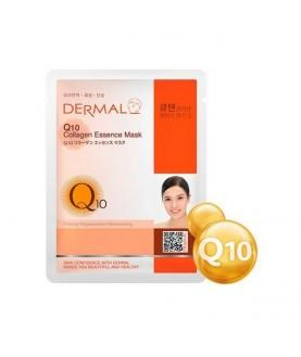 DERMAL Маска для лица Коэнзим Q10 и коллаген/ Q10 Collagen Essence Mask, 23г  2,9