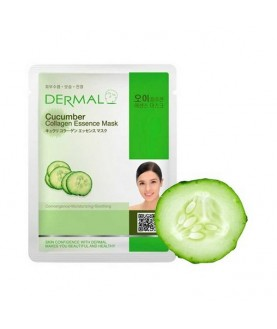 DERMAL Маска для лица Огурец и коллаген /Cucumber Collagen Essence Mask, 23г 2,9