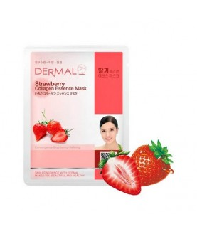 DERMAL Маска для лица Клубника и коллаген/Strawberry Collagen Essence Mask, 23г 2,9