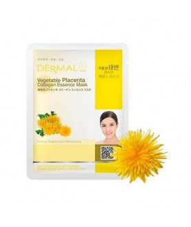 DERMAL Маска для лица Растительная плацента и коллаген/Vegetable Placenta Collagen Essence Mask, 23г 2,9