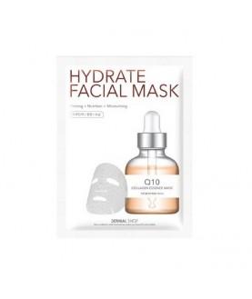 DERMAL SHOP Маска для лица активное увлажнение Коэнзим Q10 / Q10 Hydrate Facial Mask, 25г  4,9