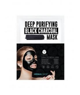 DERMAL SHOP Маска для лица с Древесным углем для глубокого очищения /Deep Purifying Black Charcoal Mask, 25г  4,9