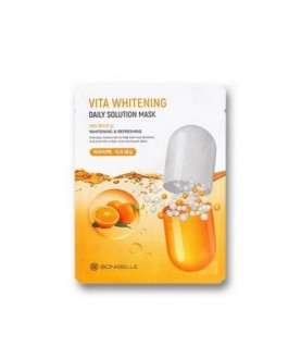 BONIBELLE Маска тканевая освежающая Vita Whitening Daily Solution Mask  с витаминами