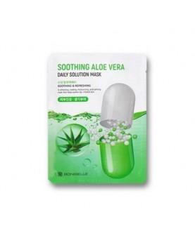 BONIBELLE Маска тканевая успокаивающая и увлажняющая Bonibelle Aloe Vera Daily Solution с экстрактом алоэ вера