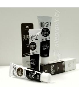 BRONSUN Краска для бровей и ресниц, цвет черный #1, 15 мл 17,5