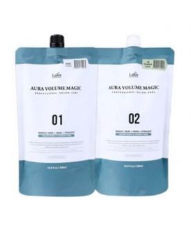 LA'DOR Комплекс для выпрямления нормальных волос (этап 1 - средство для выпрямления волос, этап 2 - крем нейтрализатор) LА'DOR AURA VOLUME  34,5