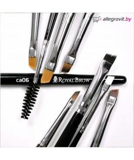 Royal Brow Кисть для бровей вишневая синтетика/ наклонная №6 14,9