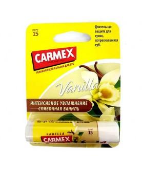 CARMEX Увлажняющий бальзам для губ Carmex Vanilla SPF15 с запахом ванили, стик в блистере , 4,25г 12,9