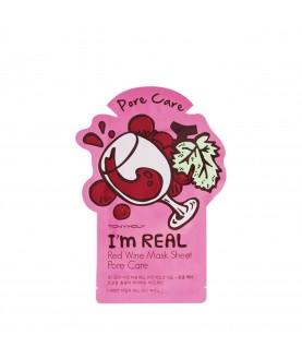 Tony Moly Маска для лица с экстрактом красного вина I`m Red Wine Mask Sheet Pore Care 21 мл