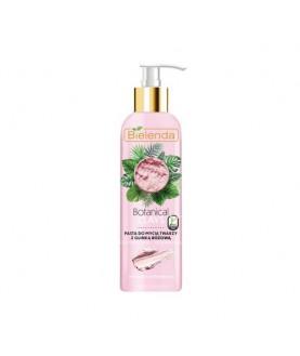 BIELENDA Веганская очищающая паста для умывания лица с розовой глиной BOTANICAL CLAYS 215 мл