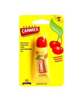CARMEX Солнцезащиный и увлажняющий бальзам для губ  Cherry SPF 15 с запаом вишни,туба в блист.10г