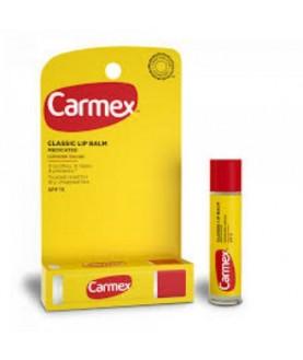 CARMEX Солнцезащитный и увлажняющий бальзам для губ Classic SPF15 классический, стик в блистере, 4,25 г