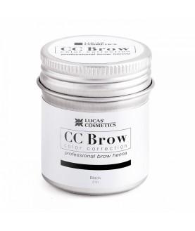 CC BROW Хна для бровей, цвет - черный (в баночке) 5 гр