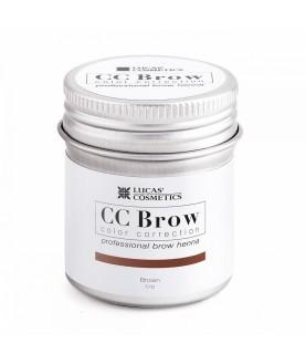 CC BROW Хна для бровей, цвет - коричневый (в баночке) 5 гр
