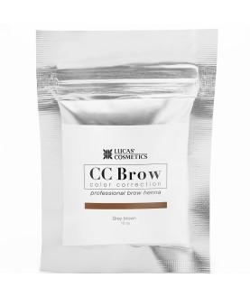 CC BROW Хна для бровей, цвет - серо-коричневый (в саше) 10 гр