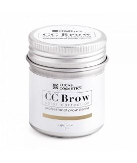 CC BROW Хна для бровей, цвет - светло-коричневый (в баночке) 5 гр