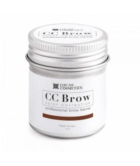 CC BROW Хна для бровей, цвет - темно-коричневый (в баночке) 5 гр