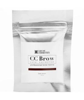 CC BROW Хна для бровей, цвет - темно-коричневый (в саше) 10 гр