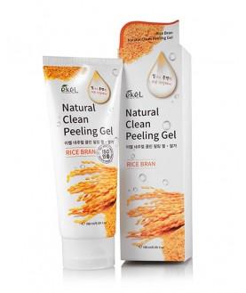 EKEL Пилинг-скатка с экстрактом коричневого риса Rice Bran Natural Clean Peeling Gel 180 мл