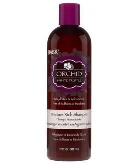 HASK Шампунь для ультра-увлажнения волос с эксктрактом орхидеи и маслом белого трюфеля 355мл