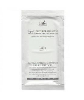 LA'DOR Органический шампунь для волос (пробник) LA'DOR TRIPLEX NATURAL SHAMPOO POUCH 10мл