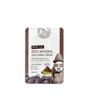 WELCOS Маска для лица тканевая очищающая Jeju Natural volcanic Mask