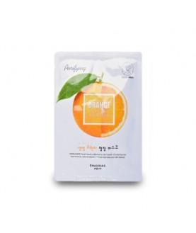 WELCOS Маска для лица тканевая освежающая  Kwailnara Orange Purifying Facial Mask