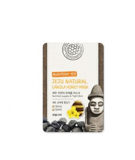 WELCOS Маска для лица тканевая питательная Jeju Natural Canola Honey Mask  20 мл