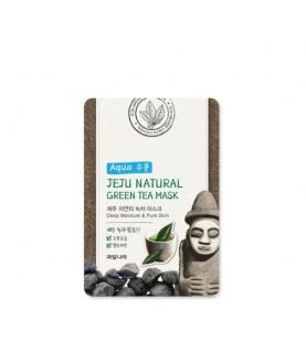 WELCOS Маска для лица тканевая увлажняющая Jeju Natural Green Tea Mask 20 мл